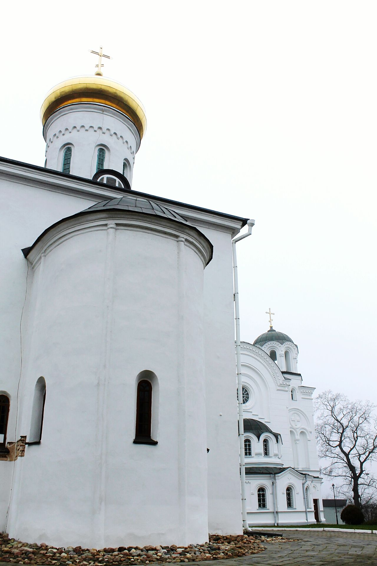 Religion History Architecture Spirituality Building Exterior Dome Monestary No People Outdoors Place Of Worship Church Cross Golden Dome Church Architecture Church Collection Day Sky Polotsk Belarus