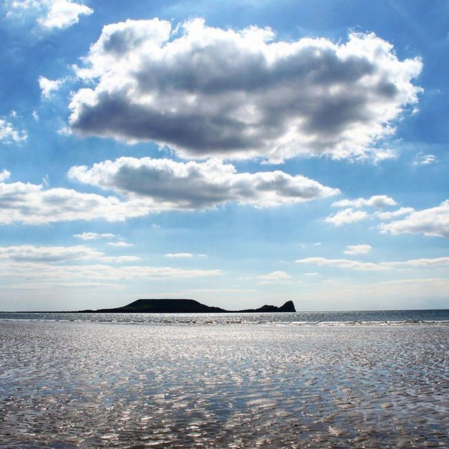 Gower 💙 Beach Gower Epicday Sea Seaside Tide Silhouette Contrast Sky Blue Clouds Nature_perfection Instaamici Worldbestgram Worldbesstars Nature_wizards Sky_perfection Sky_captures Rsa_sky_water Rsa_sky Water Canon 📷 Canon_photos