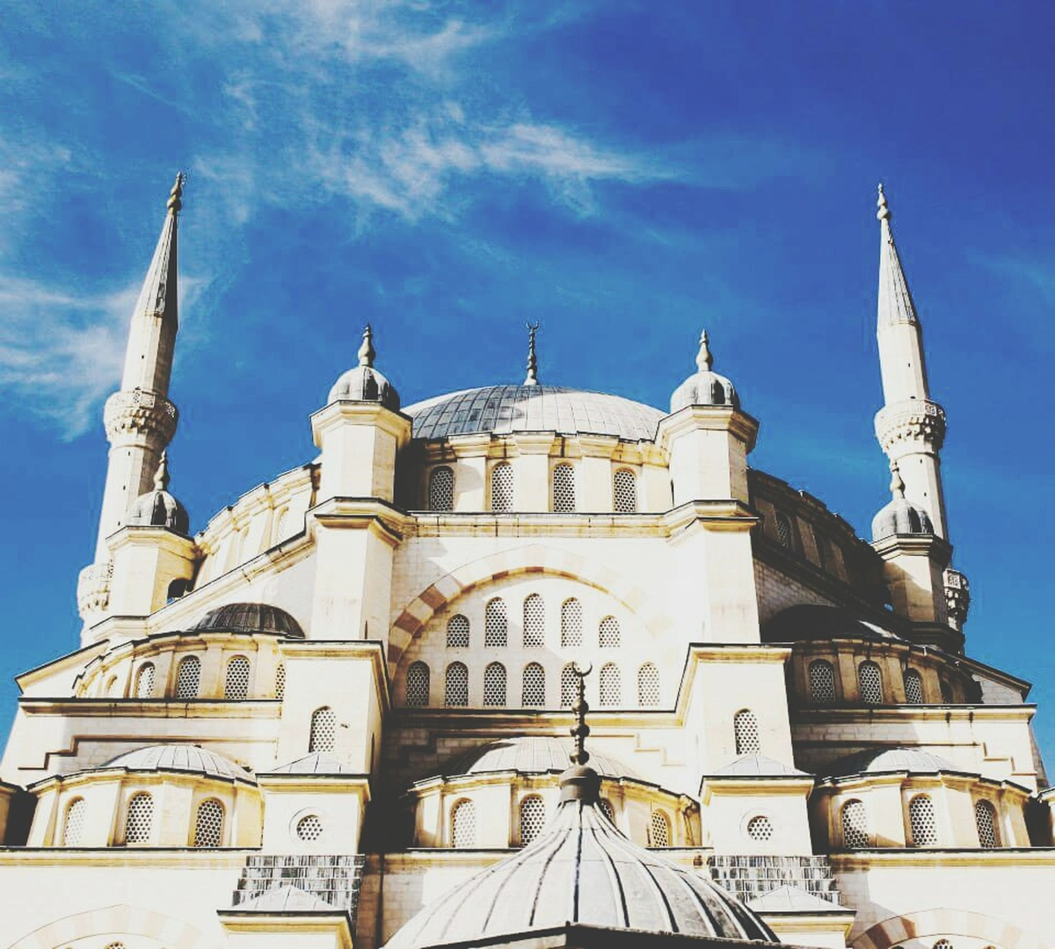Adana Sabanci Tower Tower Turkey Blue Sky Hey  Peace Muslim Summer Oldpicture