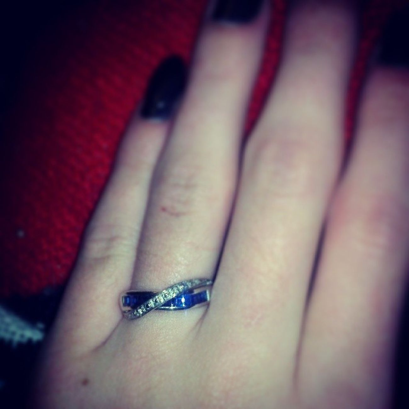 Every kiss begins with Kay <3 Hedrovebyjared Kayjeweler Sapphire Iamloved