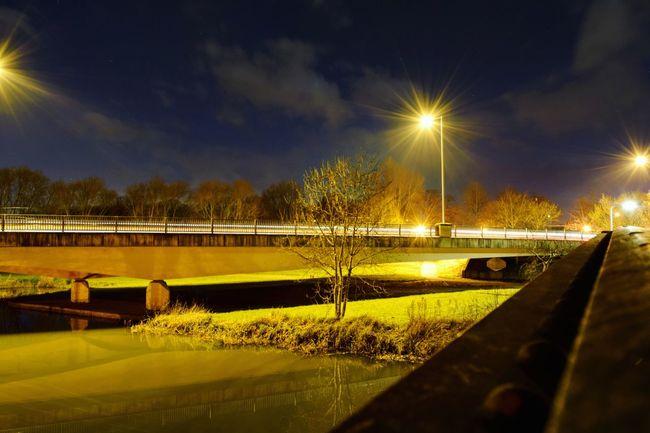 Cities At Night Bridge England Street Photography Bedford