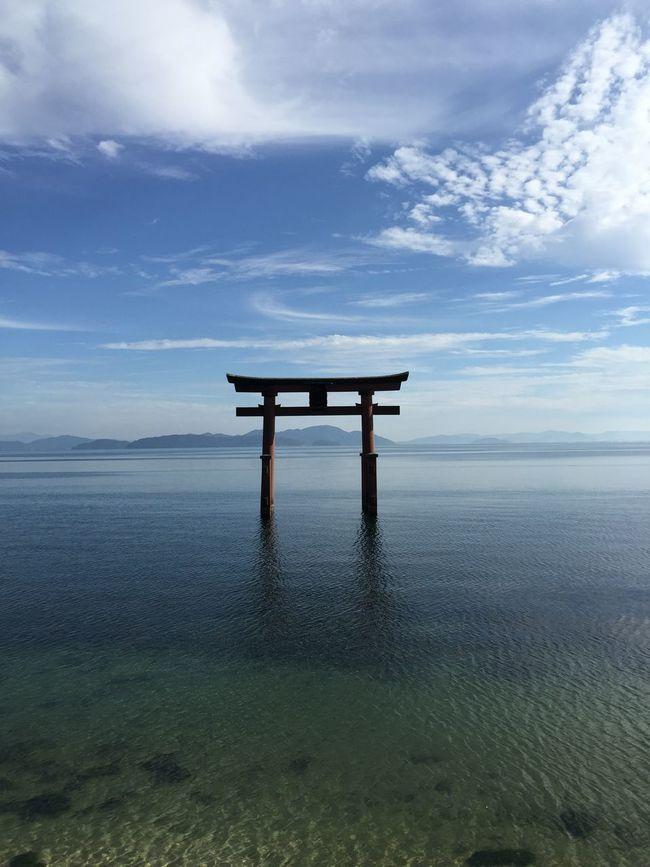 Shrine Biwako Blue Sky Japanese Shrine Beautiful Asian
