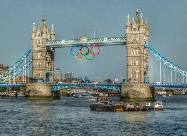 London Bridge is 'ringing'. London LondomOlympics2012 Londonbridge Thames Olympicgames Olympic Rings Europe Beauty