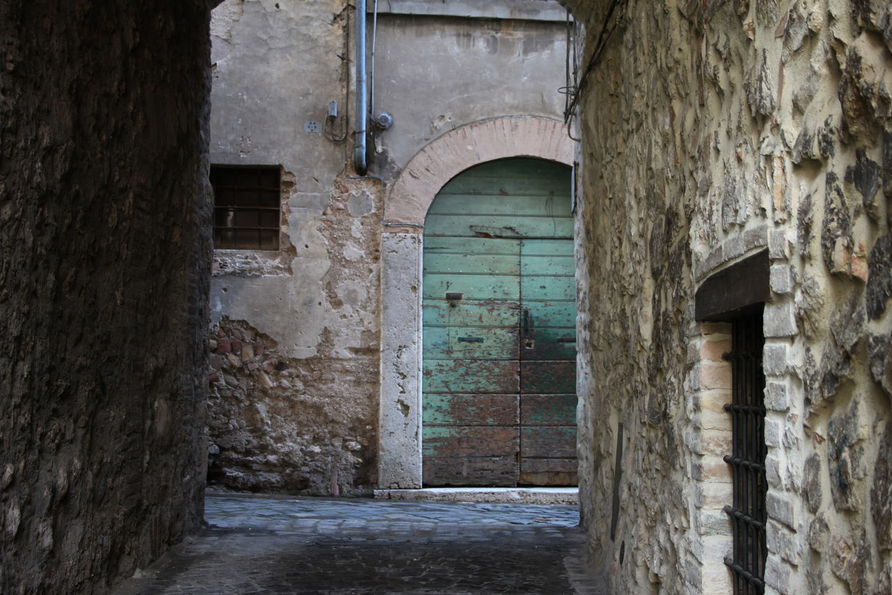 Arch Architecture Built Structure Day Doorway Italy Lazio Lugnano In Teverina Narrow No People Old Stone Wall Wall