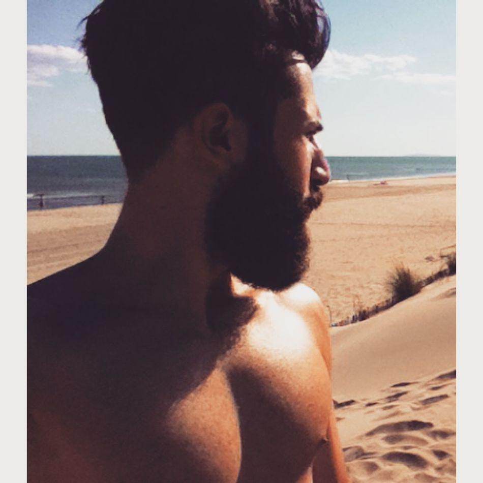 Beach Beautiful Sunset Beard Light And Shadow Enjoying Life