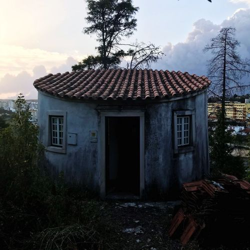 Old Architecture Leiria Portugal Portugal Rural Scenes Sky And Clouds House Door Tree Building Exterior No People Sunset Perspectives On Nature
