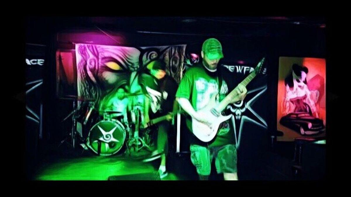 Music Performance Metal Skrewface Concert Me Guitar 7string