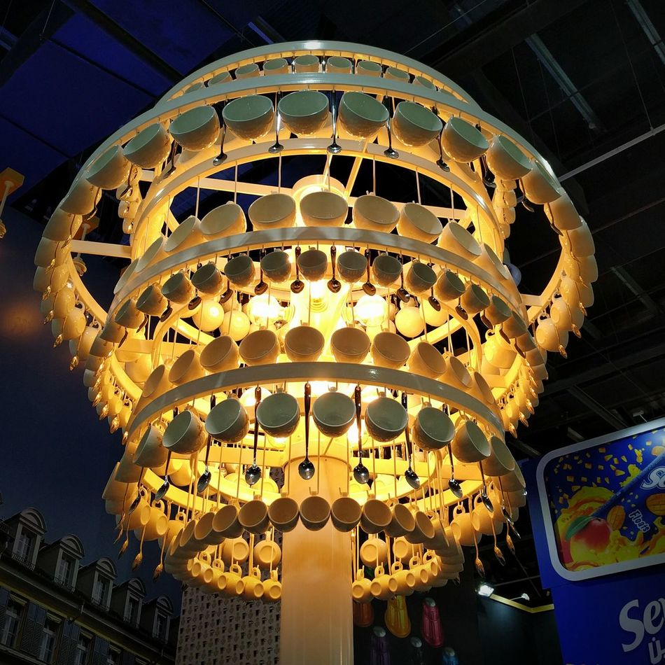 I have been forgetting to upload my pictures here... Anyways, this is Day 22 of Project 365 .... 13 cups were broken in the making of this chandelier but no teaspoons were harmed... Gulfood2016 Interesting Funky Chandeliers Lights Photooftheday Chandeliercreative