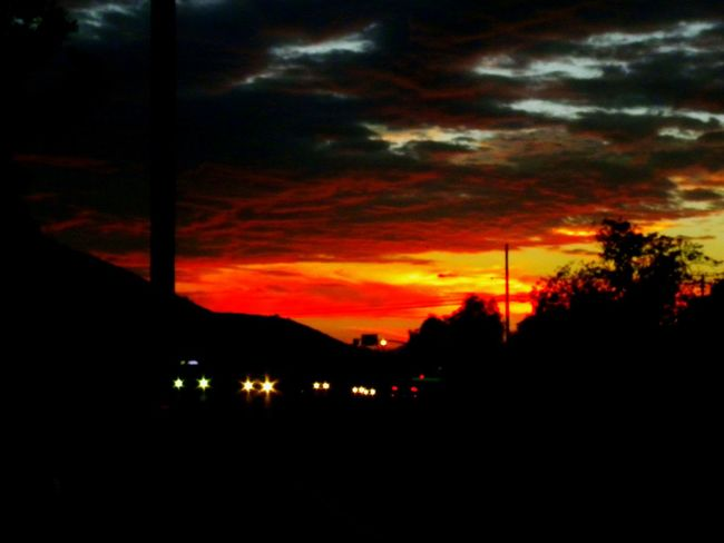 Taking Photos Color Photography Orange Outdoors Nature Sky Daytime Sky And Clouds Sunset Red Clouds Black Clouds Orange Sky Red Sky