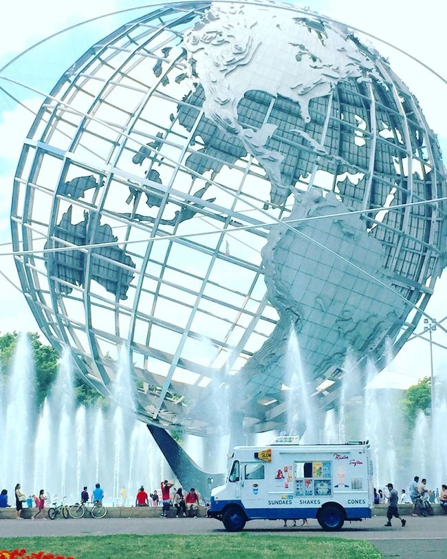 Queens Flushing Meadow Park Globe Mister Softee Summertime Fountain Fountains Public Park New York City Hiddengems Showcase July