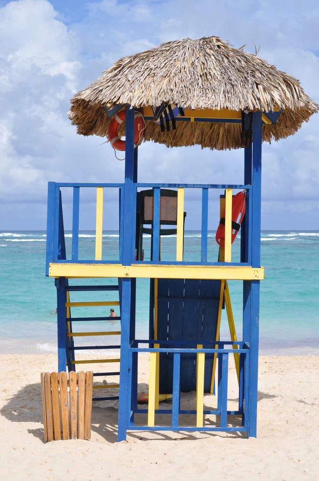 Baywatch Built Structure Caribic Feeling Chair Life Safer Summer Tropical Climate Vacation Vacations Wood