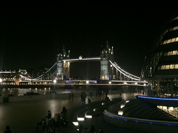 City London Mayors Office River Thames Tower Bridge  Night