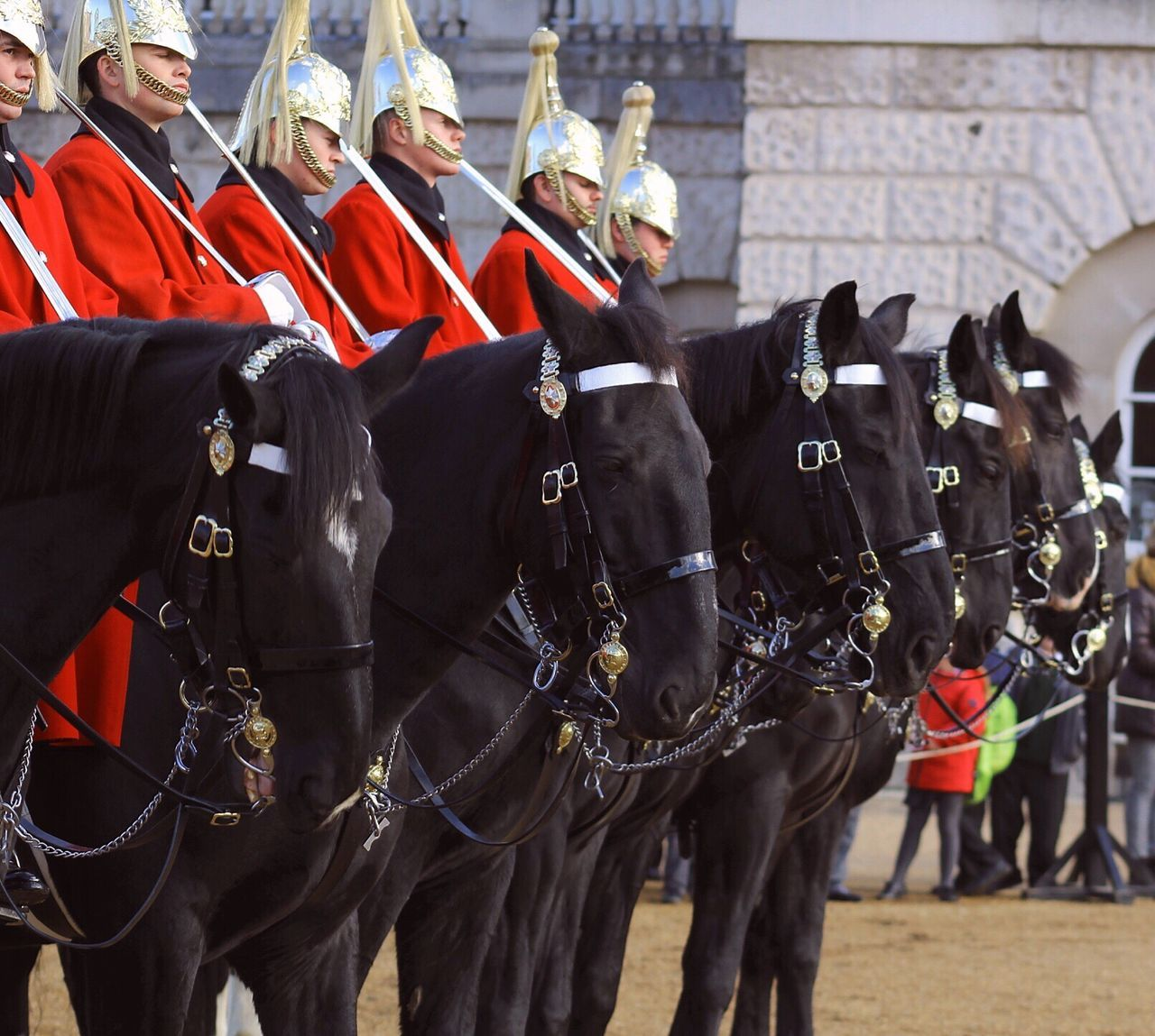Real People Uniform Guards Ceremonial Cavalry Duty Honour Soldier History Culture