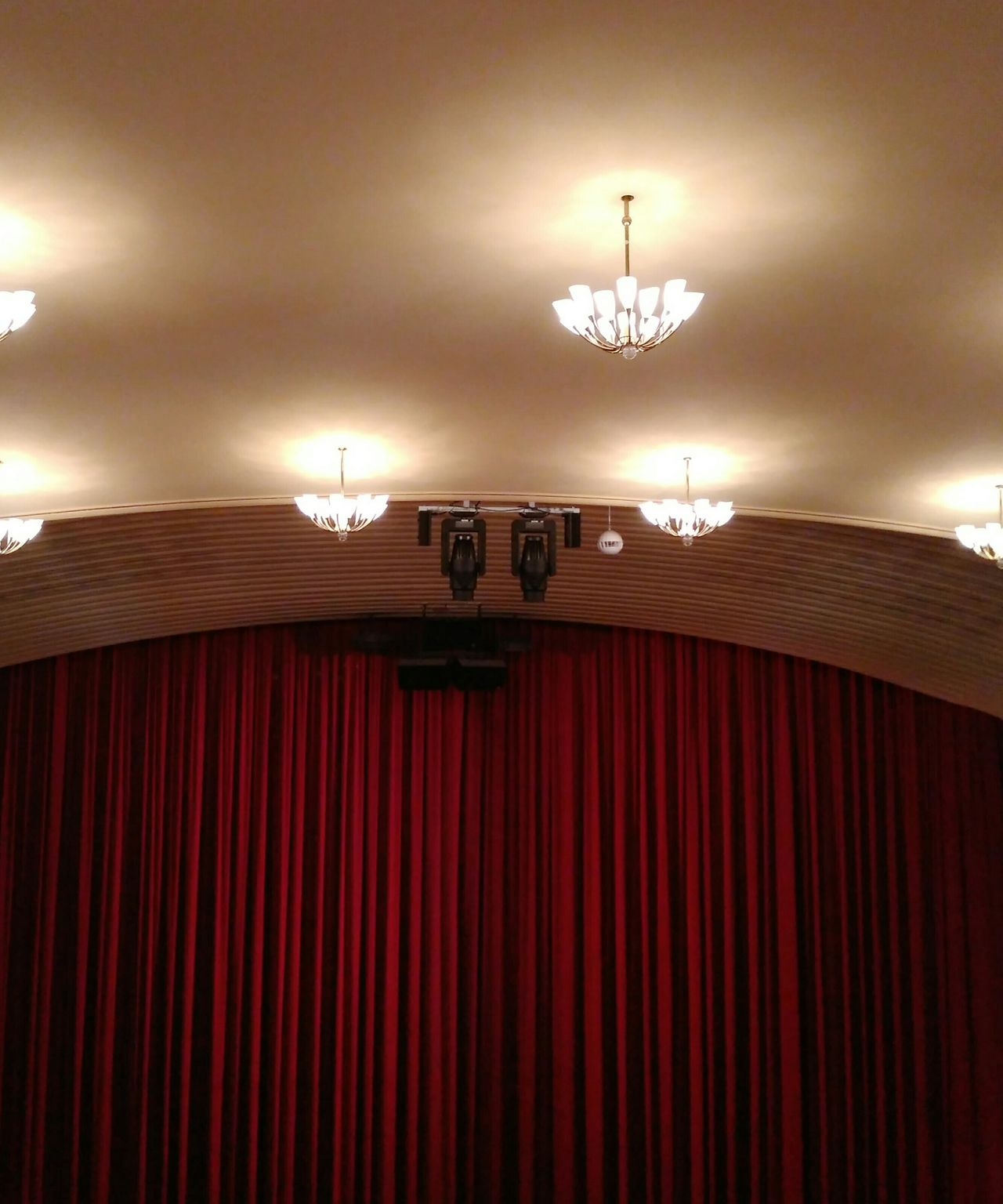Arts Culture And Entertainment Indoors  Curtain Red Stage - Performance Space Architecture No People Auditorium Performing Arts Event Spotlight Bühne Stage Theater Theatre Schauspiel Light Chandelier TheWeekOnEyeEM Performing Arts The Secret Spaces