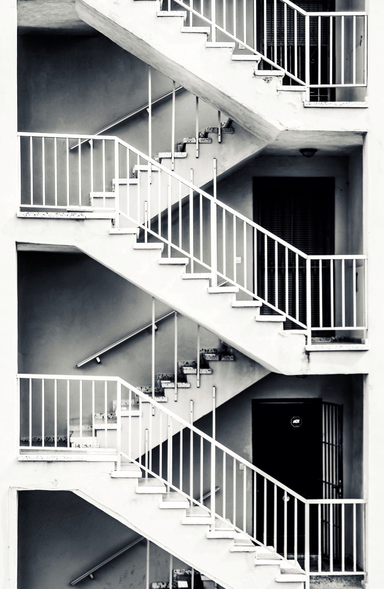 Architecture Built Structure Steps And Staircases Building Exterior Staircase Balcony Abstract Urban Stairs Blackandwhite
