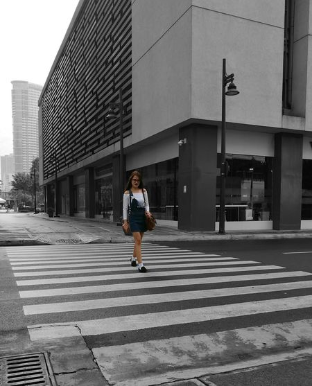 She wanted to have a photo on a crosswalk. Urban Urban Landscape Urban Lifestyle Streetphotography Outdoors Crosswalks Crosswalking Colorpop