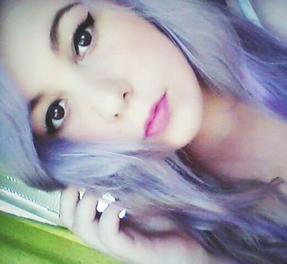 Old Old Pic  Girl Woman Portraits Portrait Alternativegirl Metalhead Pink Lipstick  Pink Lipstick  Eyemakeup One Person Only Women Blue Hair Long Hair Makeup Eyes Colored Hair Picoftheday Photooftheday Like4like Today :) Throwback Plug Plugs