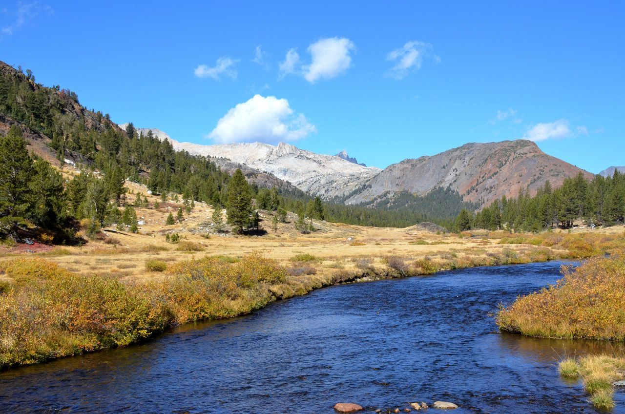 Beauty In Nature California Cloud - Sky Countryside Flowing Water Inyo National Forest Mountain Mountain Range Non-urban Scene Outdoors Remote River Riverbank Sierra Nevada Mountains Tranquil Scene Tranquility Water