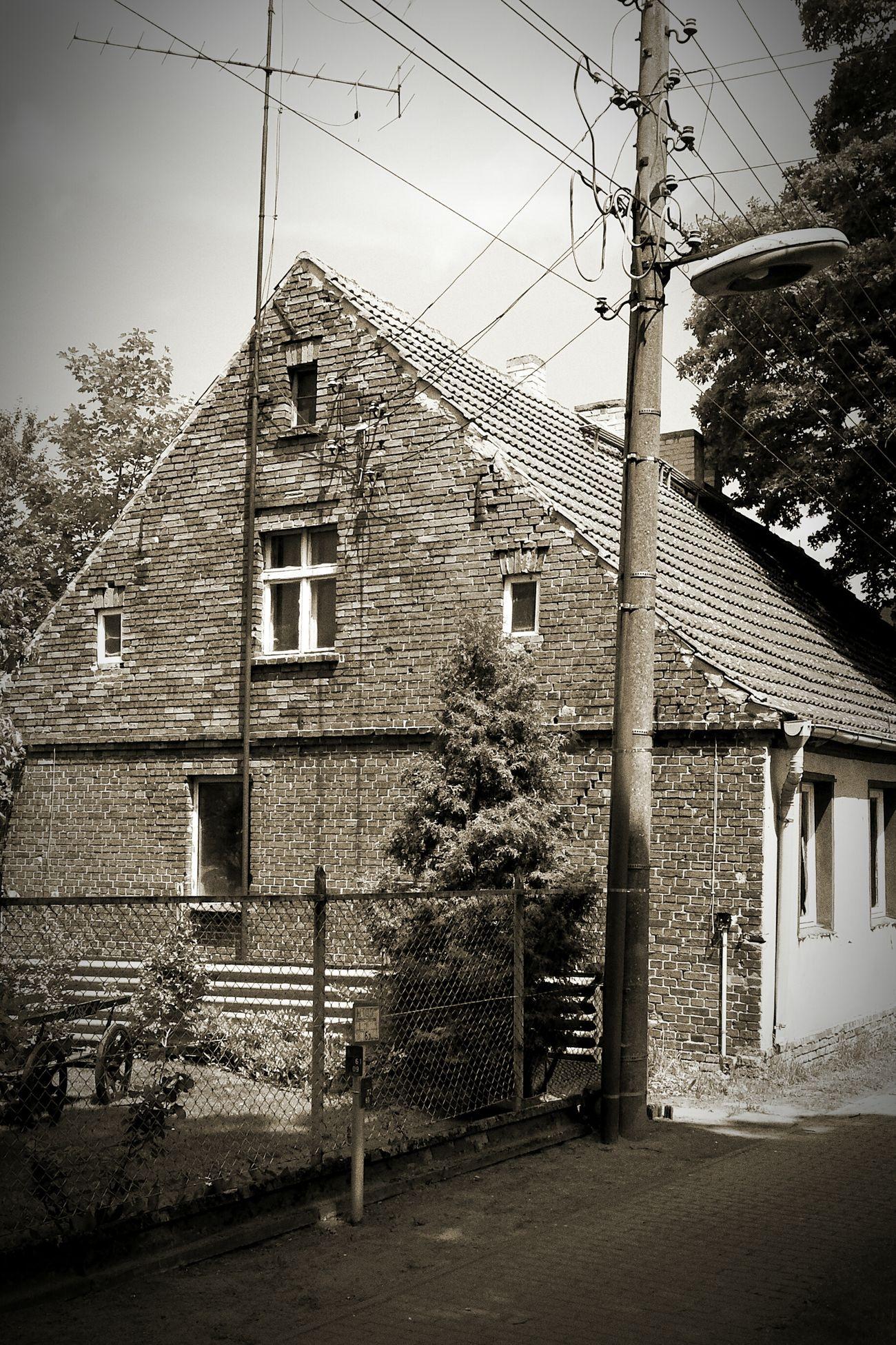 Golzow Germany Eastgermany Brandenburg Blackandwhite Farmhouse