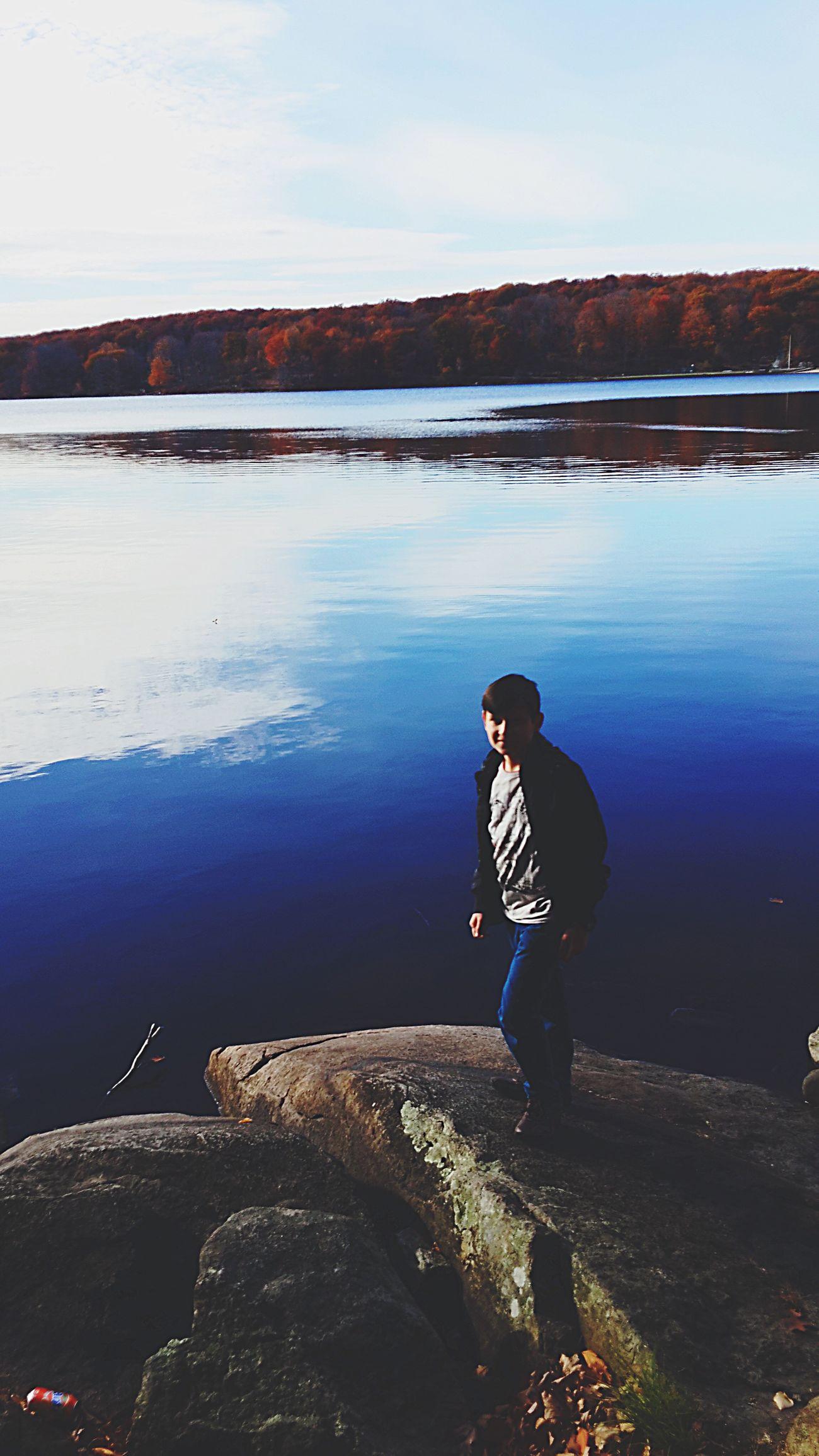 Lake Bearmountain Cold New York Lake View Blue View