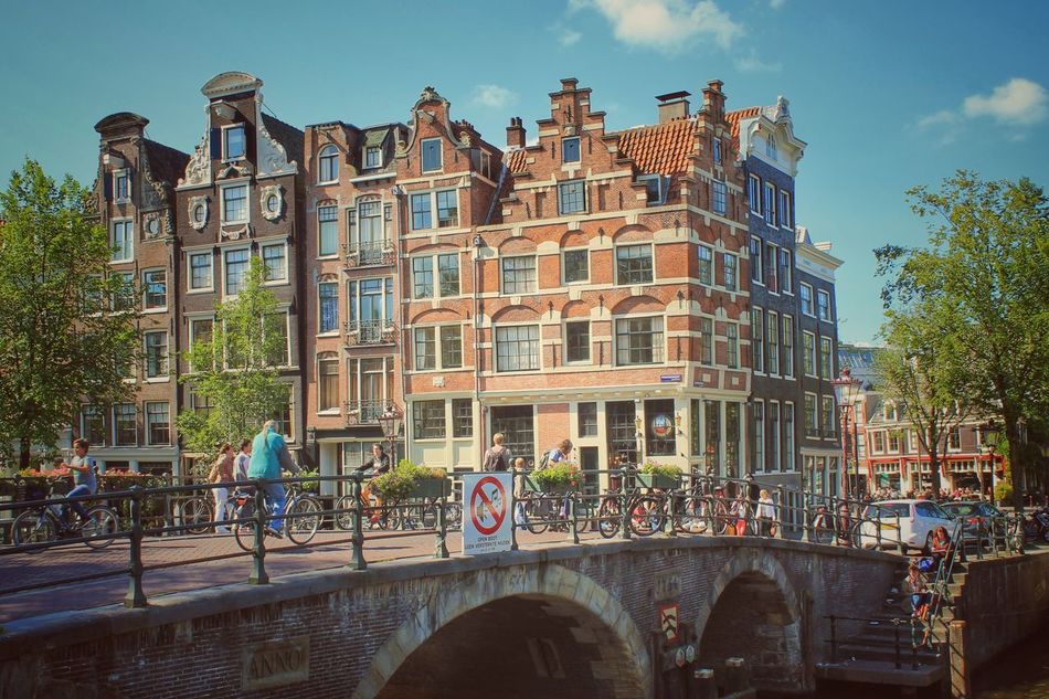 Beautiful stock photos of amsterdam, Amsterdam, Arched, Architecture, Bridge