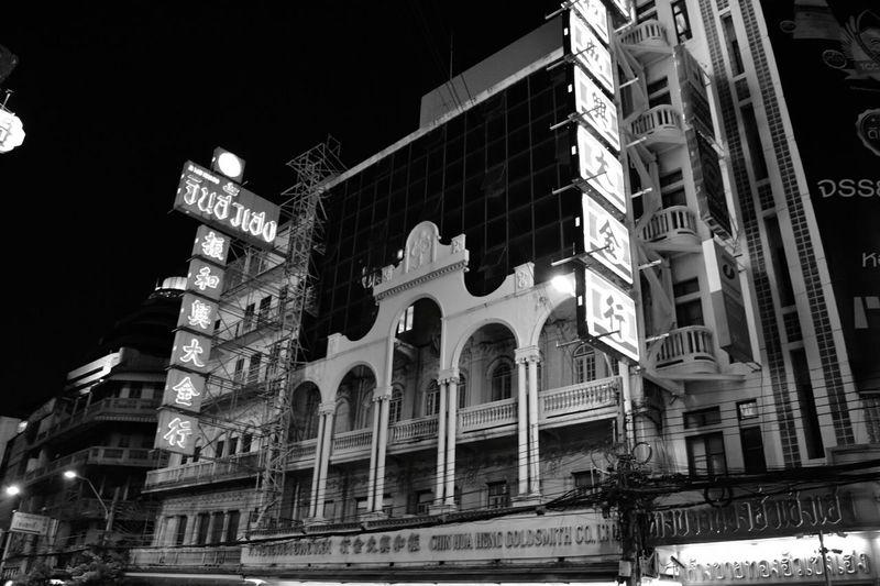 Chinatown Bangkok Blackandwhite Urban Building Exterior Blackandwhite Photography Black And White Friday