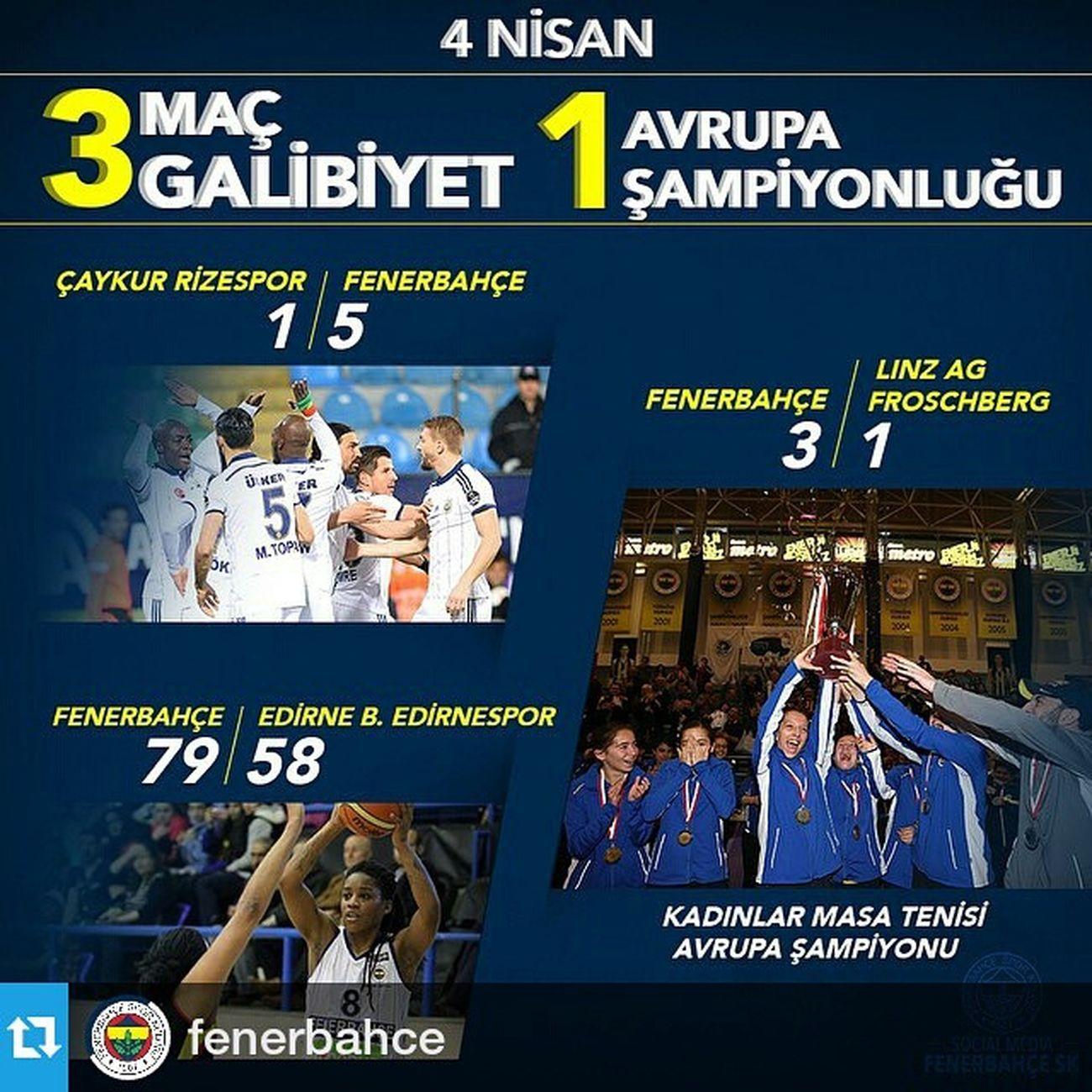 Repost @fenerbahce ・・・ 3 Maç, 3 Galibiyet, 1 Avrupa Şampiyonluğu! Tebrikler Fenerbahce  ! InstaFB BizBirSporKulübüyüz