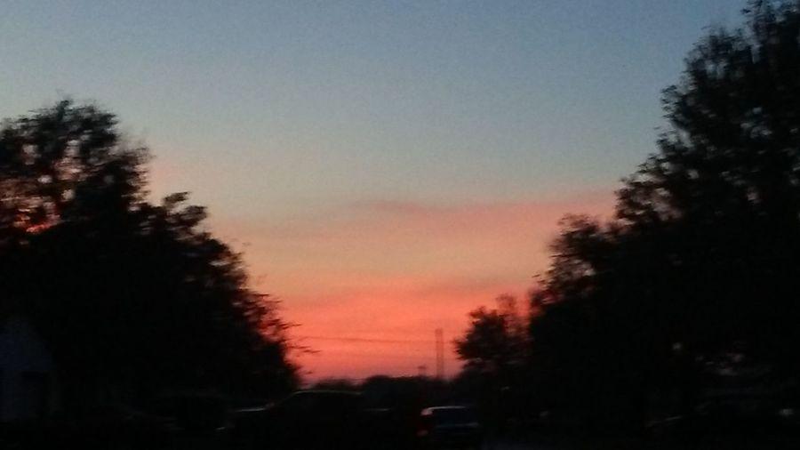 Sunset Tree Dusk Sky Silhouette Outdoors Nature Illuminated Beauty In Nature OklahomaSkies