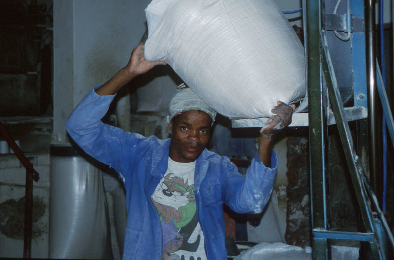 Flour Hard Work Labor Mature Adult Mealie-meal Mill Worker Person South Africa Worker People And Places Snap A Stranger