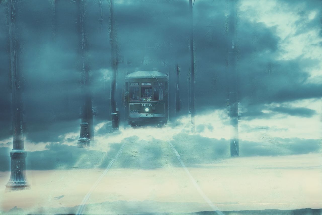 Unrealistic Unrealistic Cloud Clouds Train Spooky Spooky Atmosphere Fog Foggy Winter Mystery Mysterious Mystical Book Cover Photoedit