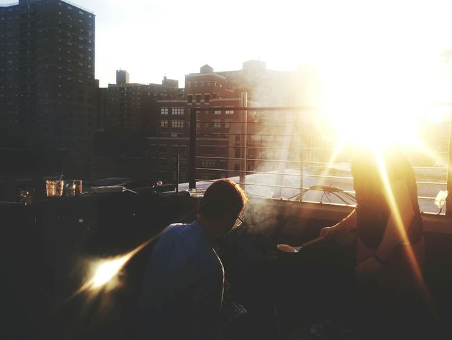 Sunset BBQ Friends Rooftop View  Open Edit