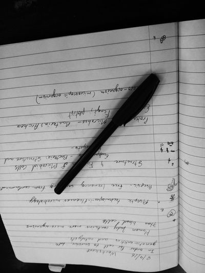Paper Book Open Text Close-up Pen Inspiration Large Page Education Communication