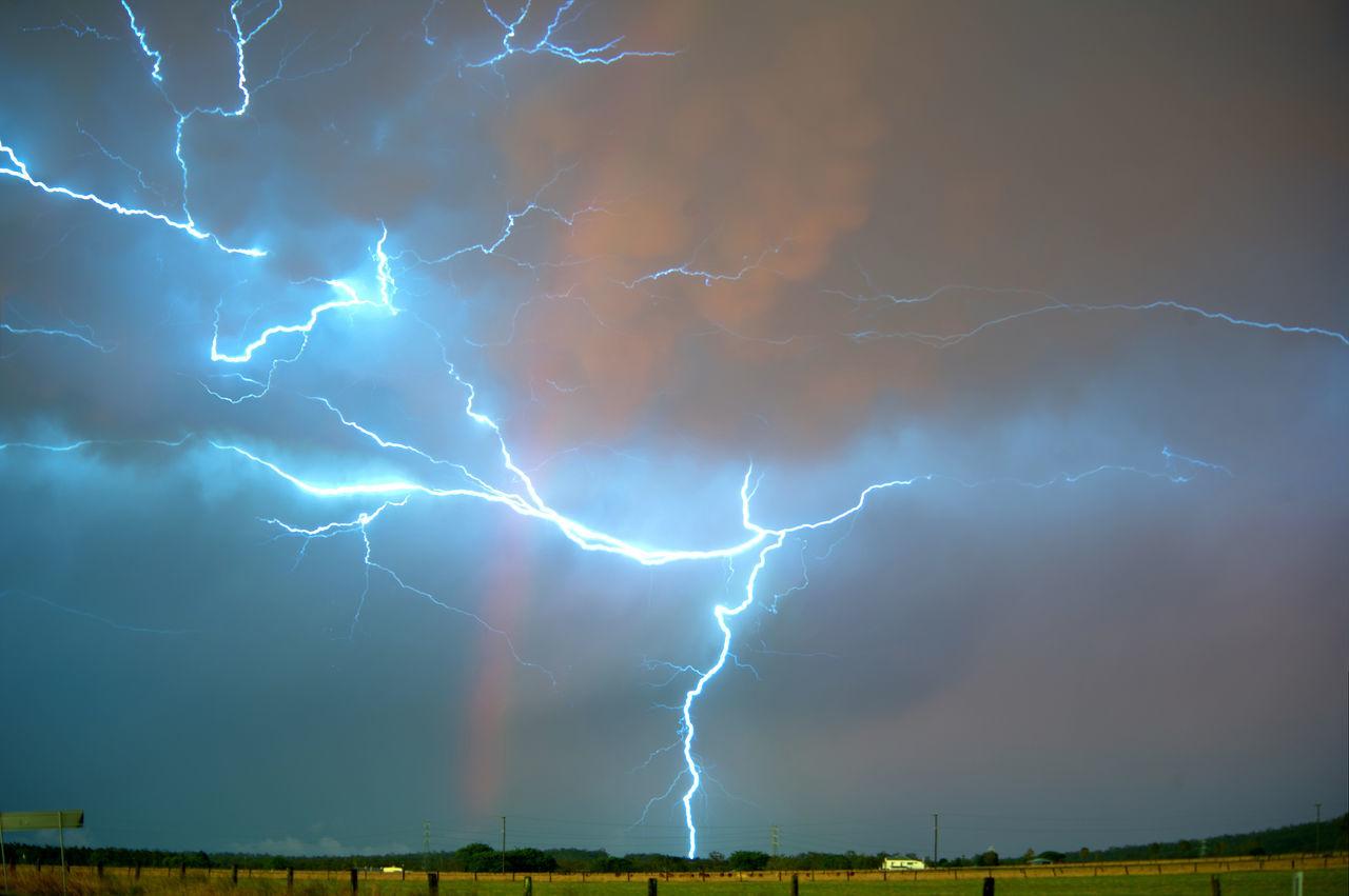 Awe Cloud Landscape Lightning Outdoors Power In Nature Queensland Australia Rainbow Scenics Sky Storm Storm Storm Cloud Thunderstorm