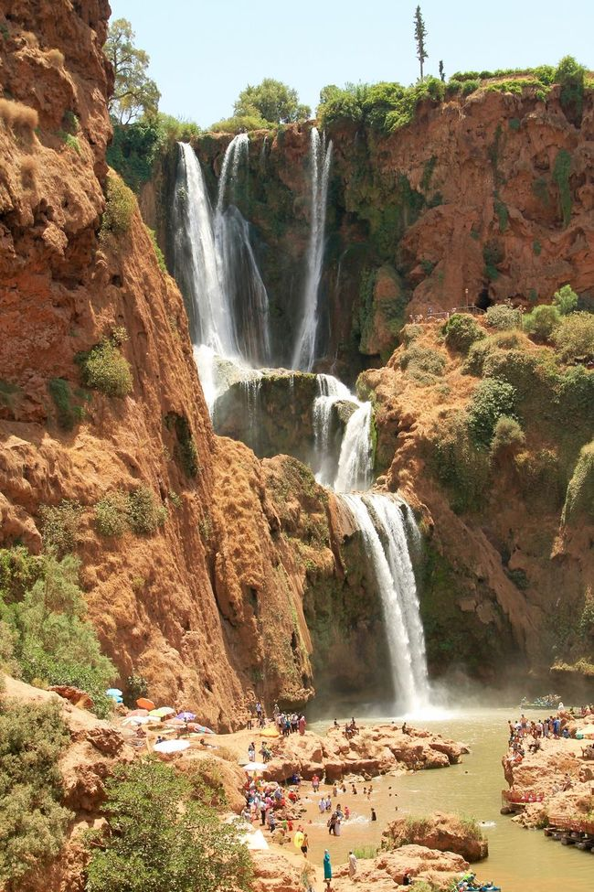 Ouzoud Falls Beauty In Nature Cliff Day Flowing Flowing Water Idyllic Morocco Motion Mountain Nature No People Non-urban Scene Outdoors Ouzoud Falls Plant Power In Nature Rock Rock - Object Rock Formation Scenics Tourism Tranquil Scene Travel Destinations Water Waterfall