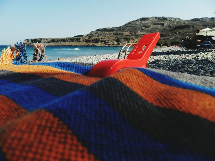 On the beach Beach Sea Water Outdoors Day Sky Close-up Tranquility Clothespins Clothes Peg Seaside Sea Life EyeEmNewHere The Week On EyeEm Mix Yourself A Good Time Done That.
