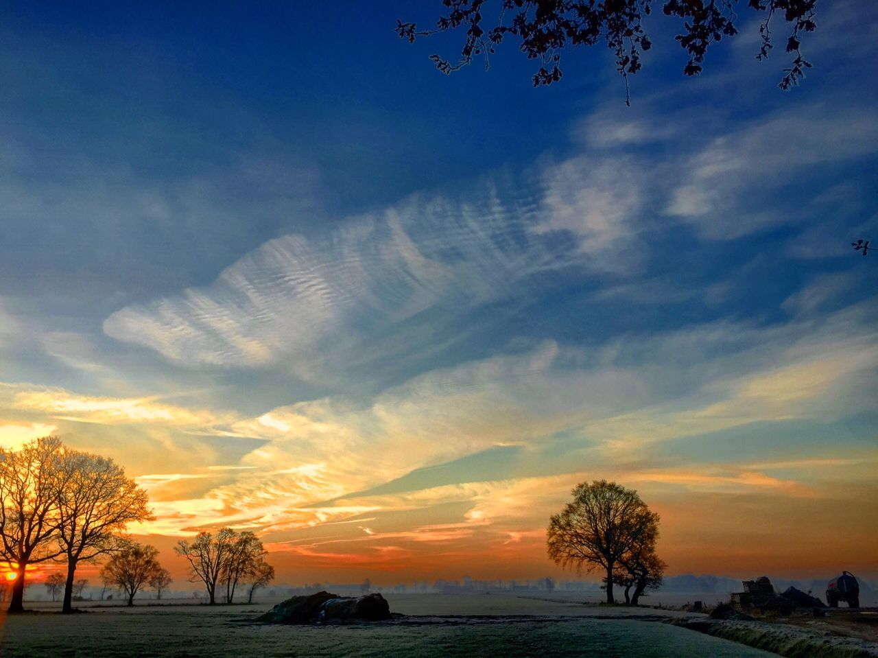 Sunrise Countryside Sky Sky Beauty In Nature Nature Tree Sunset Scenics Cloud - Sky Tranquility Tranquil Scene No People Landscape Outdoors Day