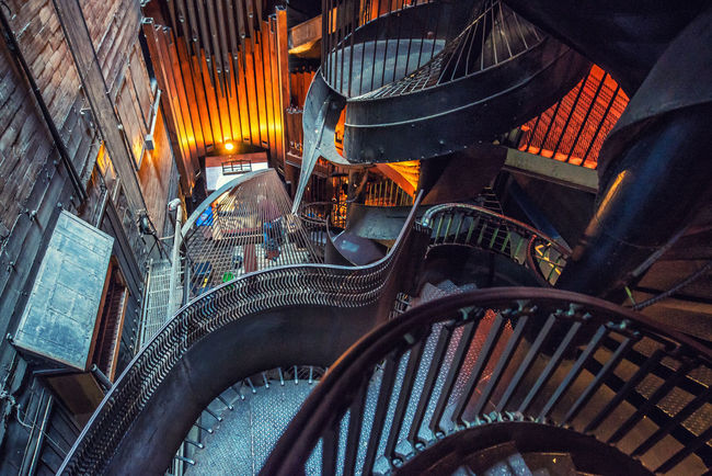 City Life Iron Light And Shadow Metal Modern Spiral Staircase Spirals Staircase The Architect - 2016 EyeEm Awards Envision The Future