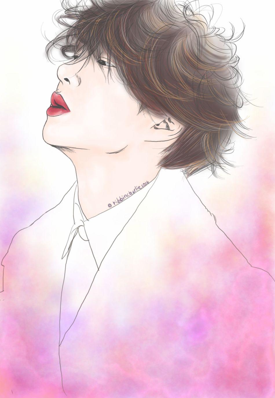 Saturday hobby 🎨 One Person Adult Dreamlike People Portrait Painting Drawing Fanart Fanartdrawings Fanartkpop BTOB Changsub Btob Changsub