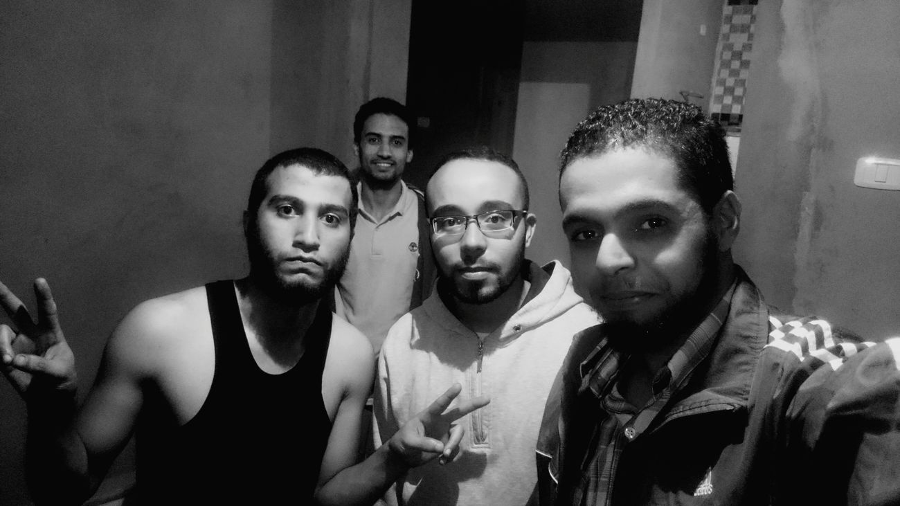 Selfie ✌ Selfie Popular Photo EyeEm Best Shots - Black + White Looking At Camera Blackandwhite EyeEm Bnw Taking Photos Hanging Out Traveling Pepole Hi! Eye4black&white  Men Friendship Looking At Camera