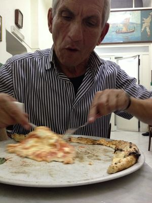 pizza at L'Antica Pizzeria Da Michele by Tano Bono