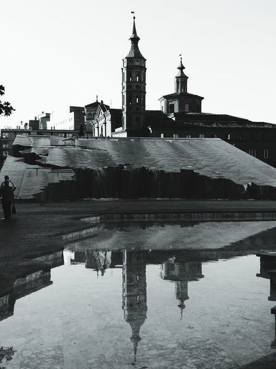 Church Tower Riflessi Riflection Reflection Architecture History Built Structure Black And White Friday Be. Ready. EyeEmNewHere