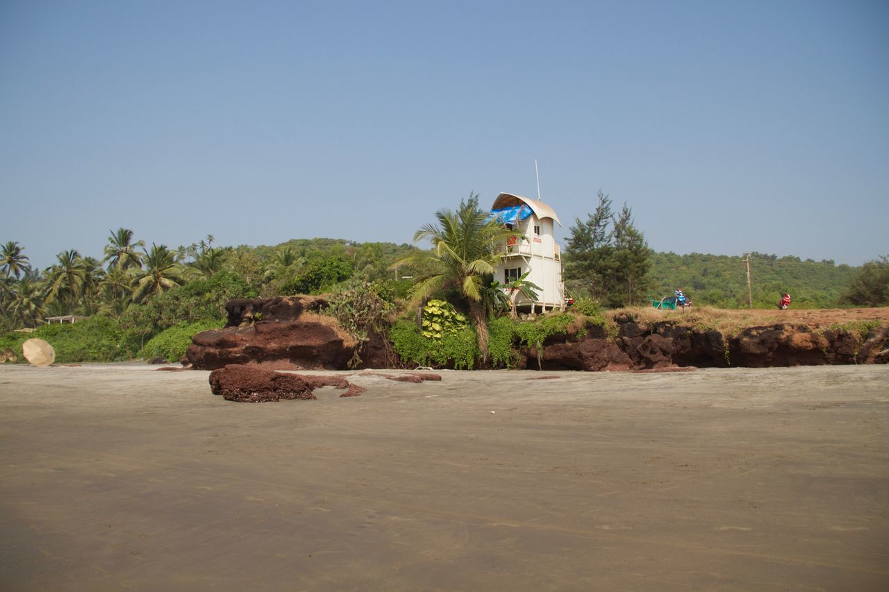 Ashvem Ashvem Beach Beach Day Flag Goa Nature No People North Goa Outdoors Rescue Station Sea Side Tropical Climate Tropical Paradise
