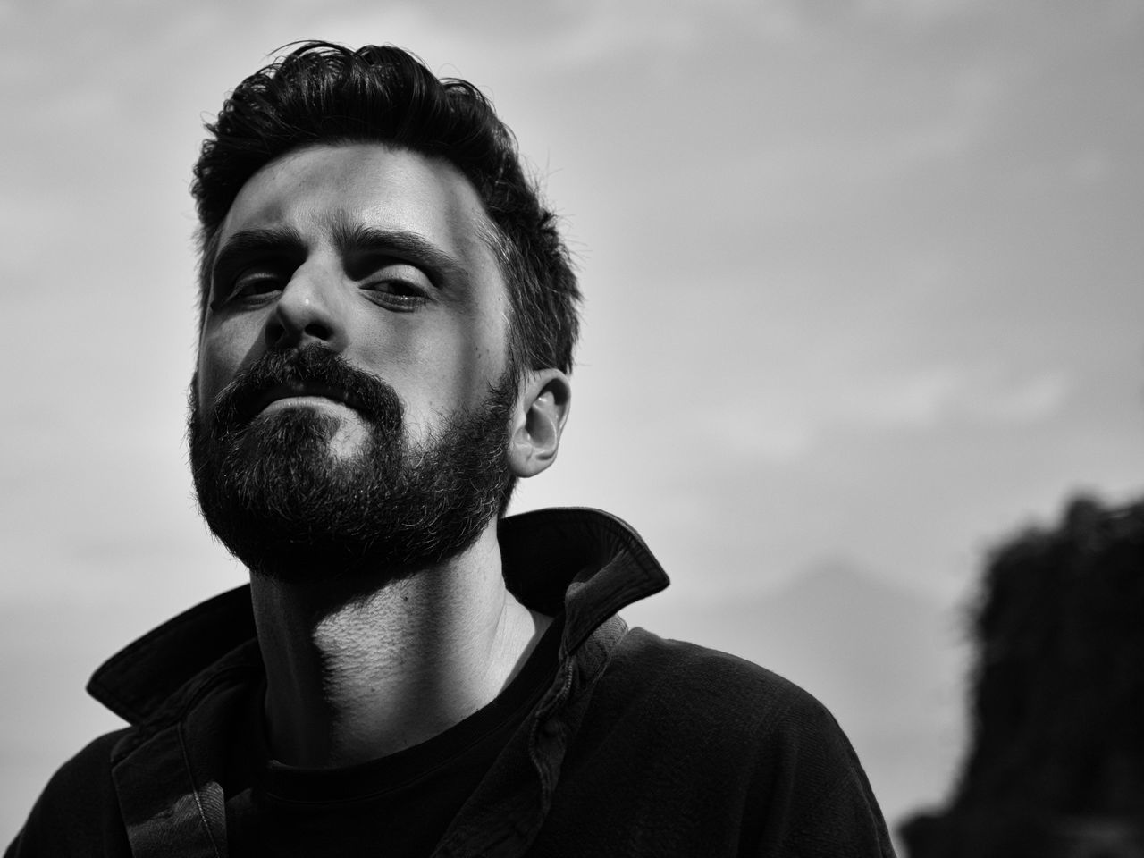 Andrea Adult Adults Only Beard Black & White Black And White Blackandwhite Blackandwhite Photography Boy Close-up Cloud - Sky Day Headshot Lines Low Angle View Man Nature One Man Only One Person Only Men Outdoors People Portrait Real People Sky Young Adult Welcome To Black