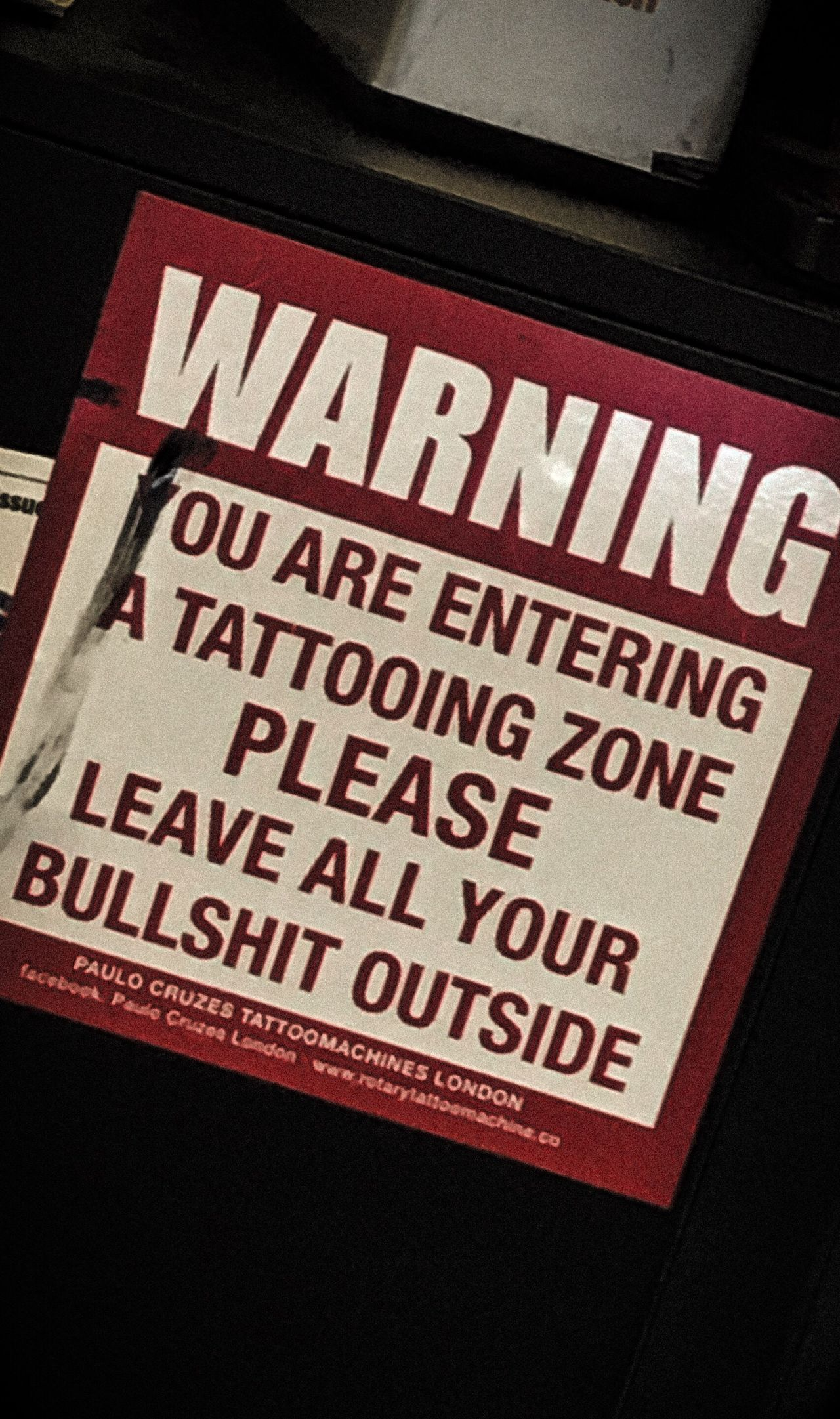 porque tattoos are life. Text Tattoo Sign Sticker Tattoo Shop Nothing But Ink