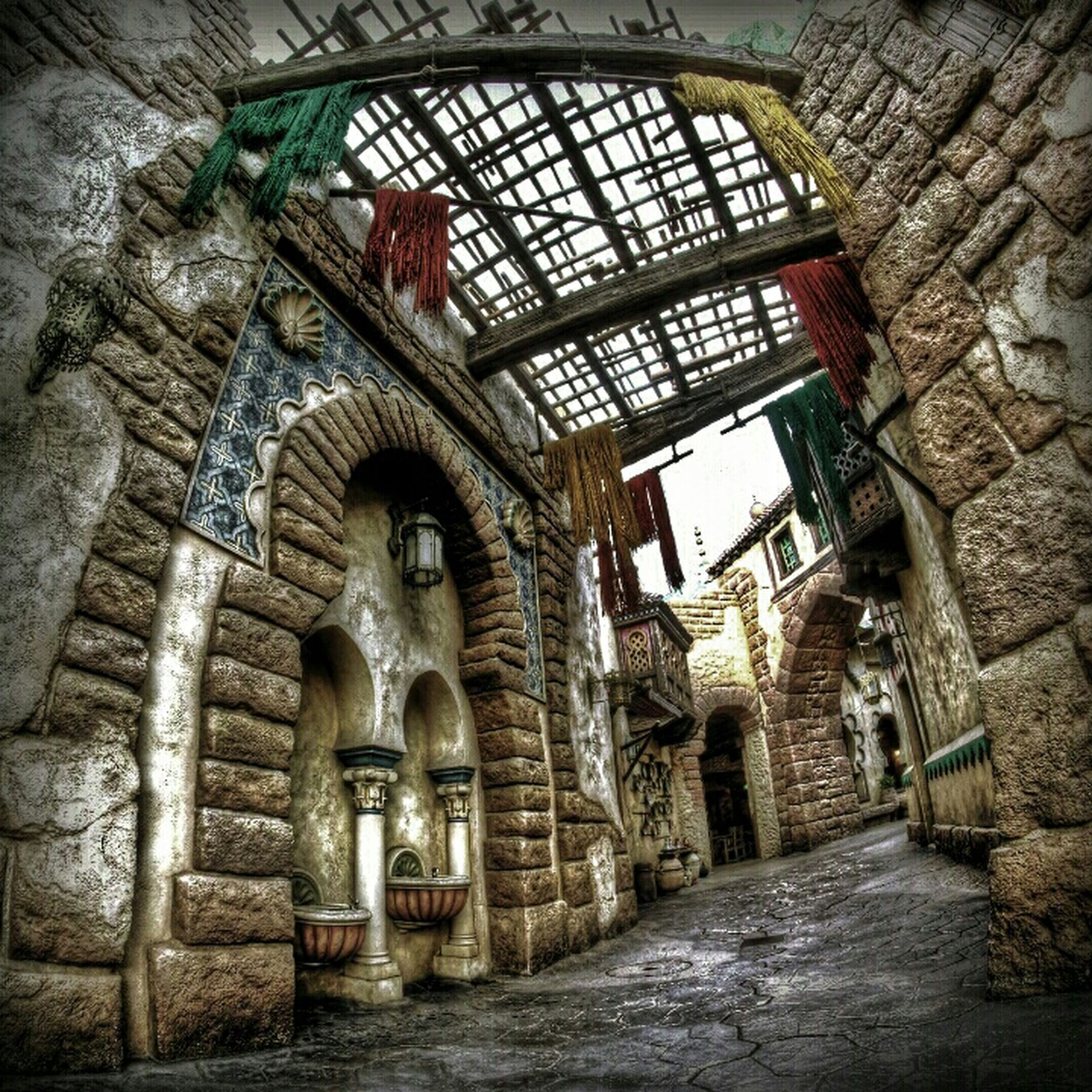 architecture, built structure, building exterior, old, arch, abandoned, indoors, brick wall, history, wall - building feature, building, obsolete, damaged, stone wall, deterioration, run-down, entrance, no people, the way forward, day