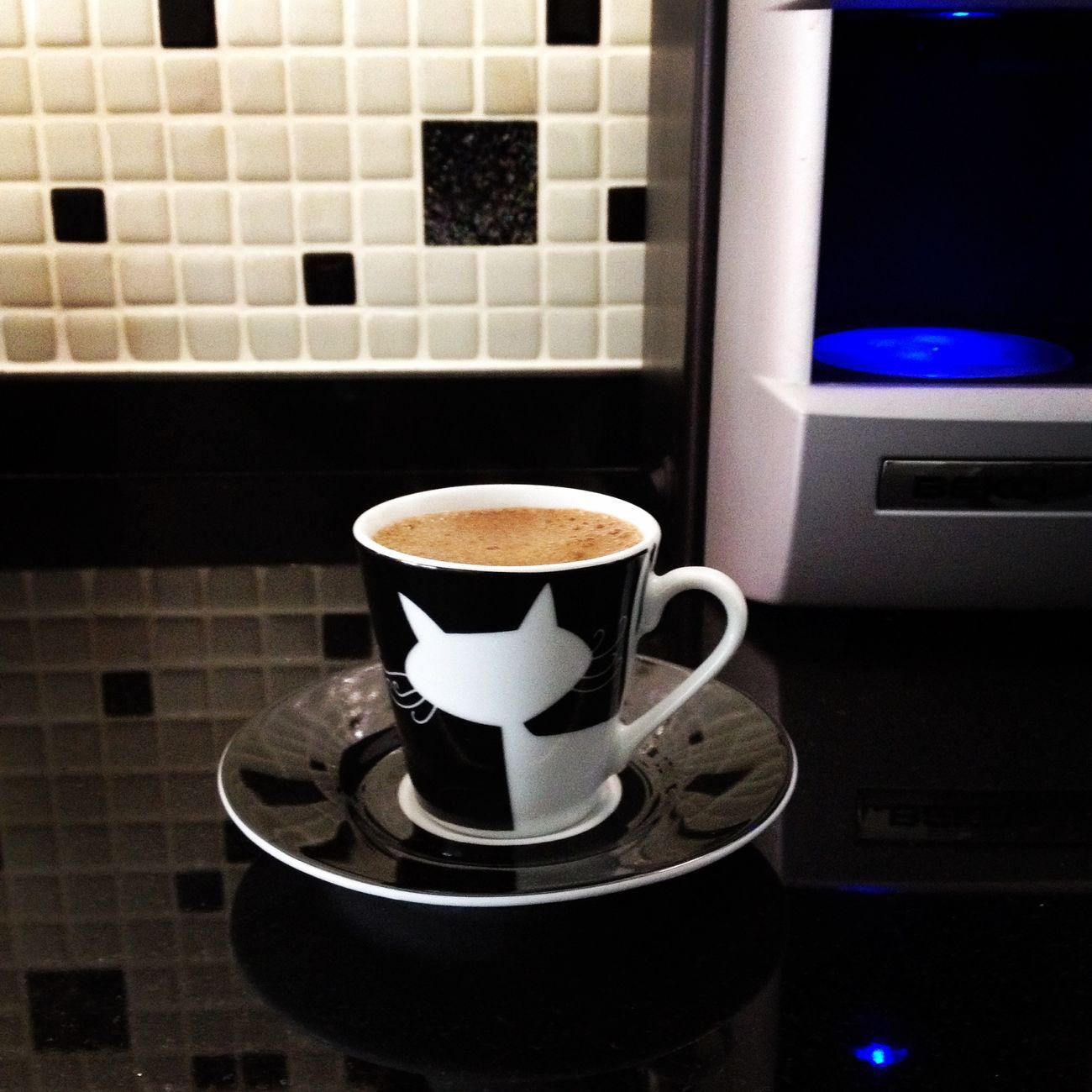 Kara kedisi ve siyah beyaz mutfağı olanın kahve fincanı da böyle olur :)) Karakedi Kedi Siyahbeyaz Mutfak Kahve Fincan BLackCat Cat Kitchen Coffeecup
