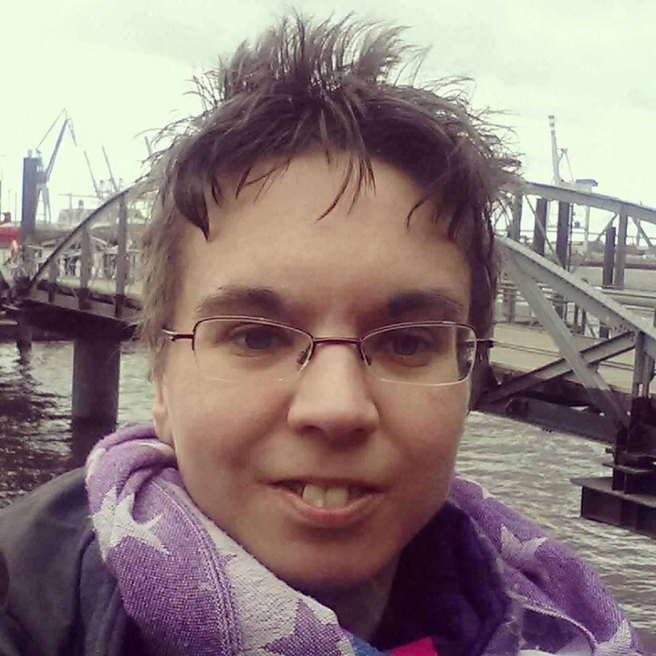 Today - One Year in Hamburg Hamburger Hafen Nice Day