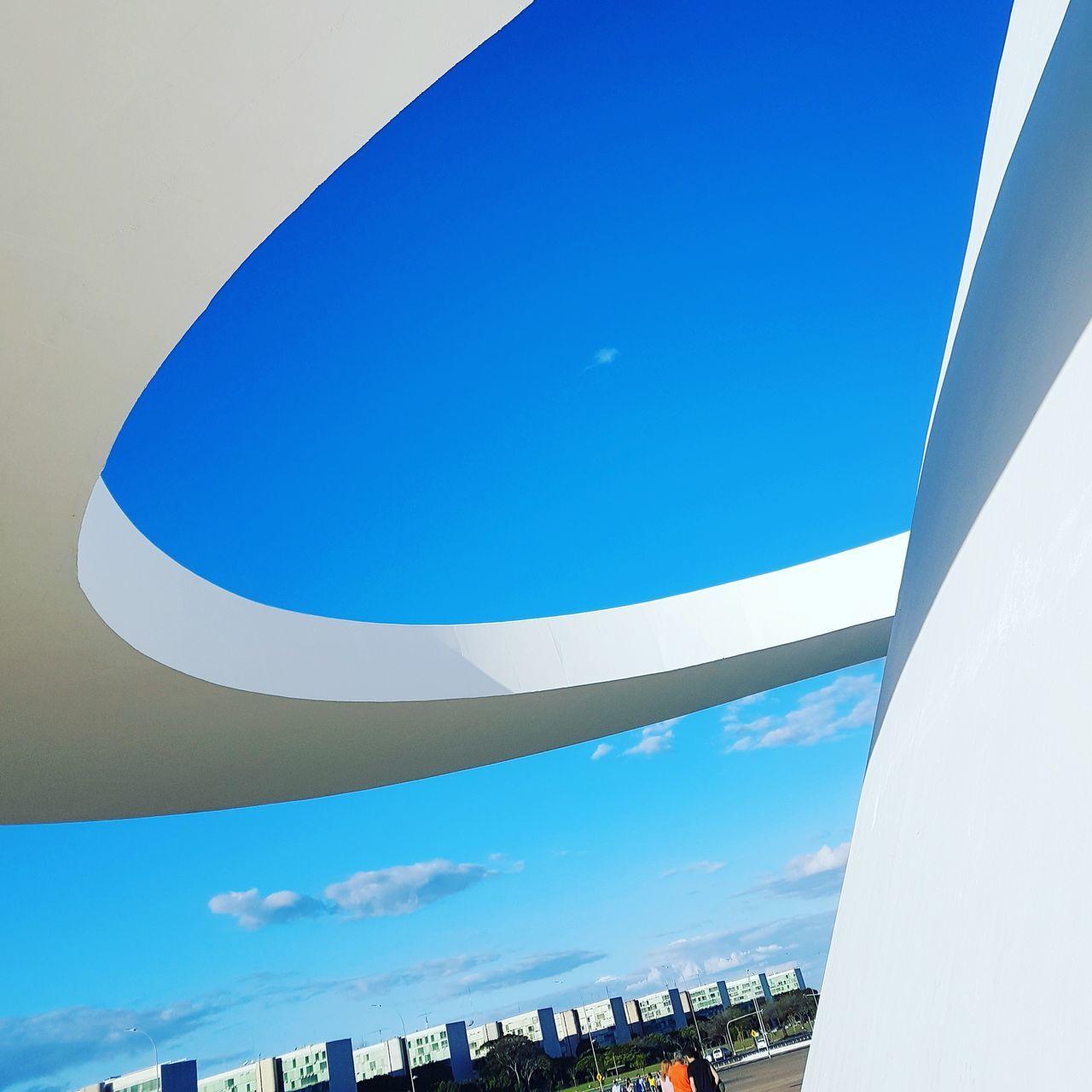 Blue Sky Day Outdoors Built Structure Blue Architecture City Modern Brasília - Brazil