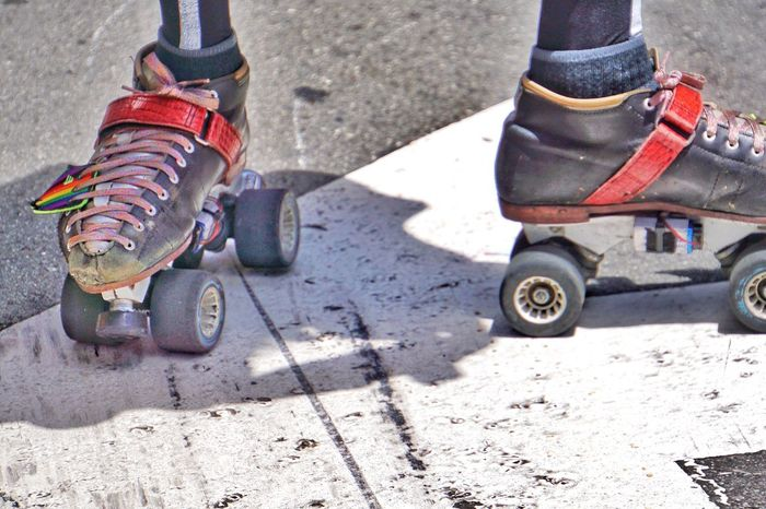 Sunlight Shadow Day Low Section High Angle View Childhood Outdoors Sport Human Body Part Tire Close-up One Person People Rollerskate Roller Skating Skate Skating