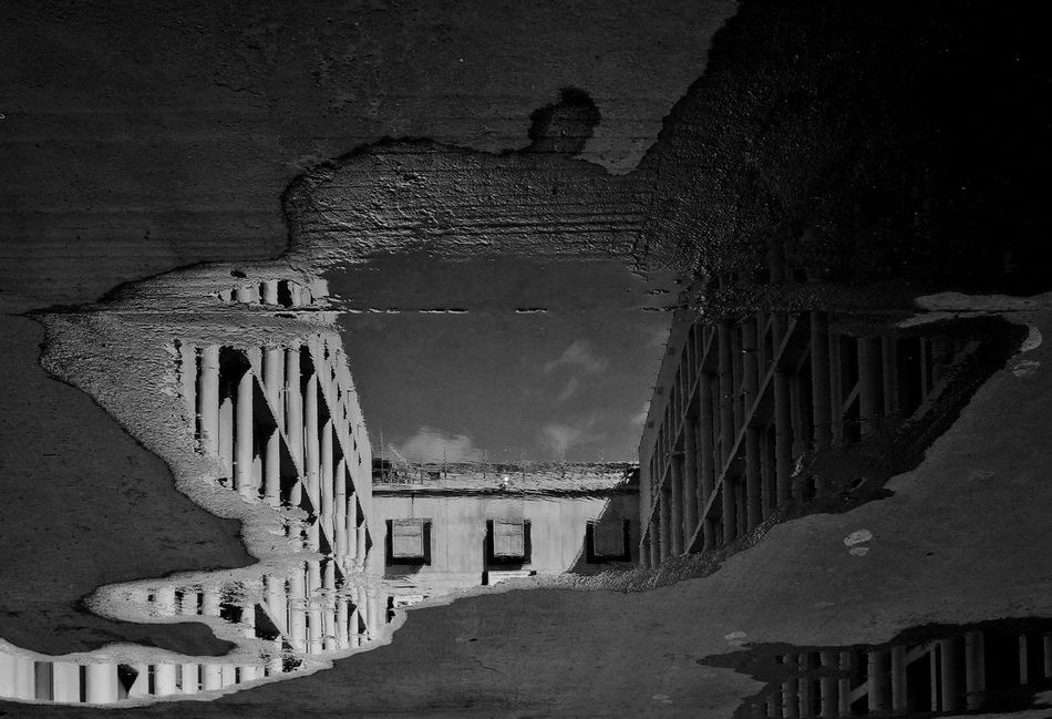 Architecture Architecture_bw Black & White Blackandwhite Building Exterior Built Structure History Humboldtforum Low Angle View Outdoors Reflection Reflection_collection Sky The Spaces